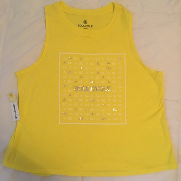 soulcycle Tops - Soulcycle Yellow Muscle tank NWT Medium
